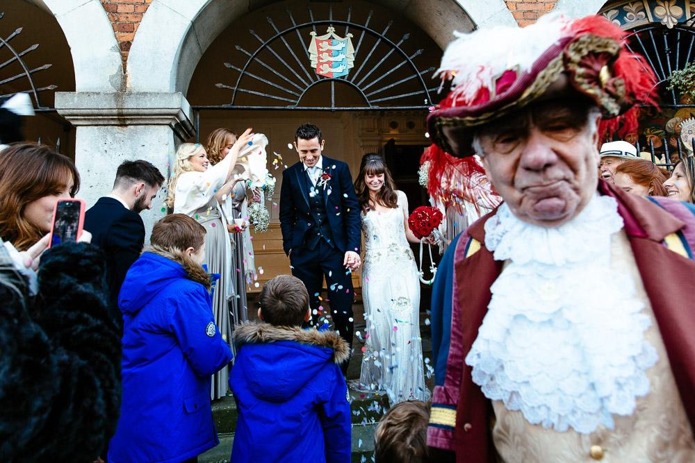 Rye town hall wedding photography