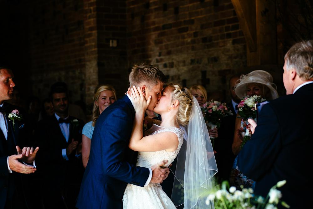 Shustoke barn wedding ceremony