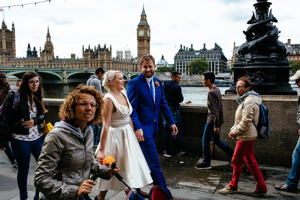 London south bank wedding photos