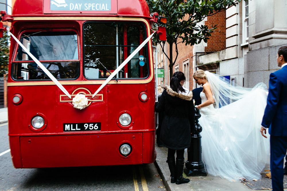 Routemaster London wedding bus