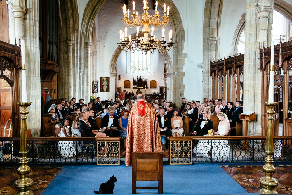 St Mary's church Rye wedding