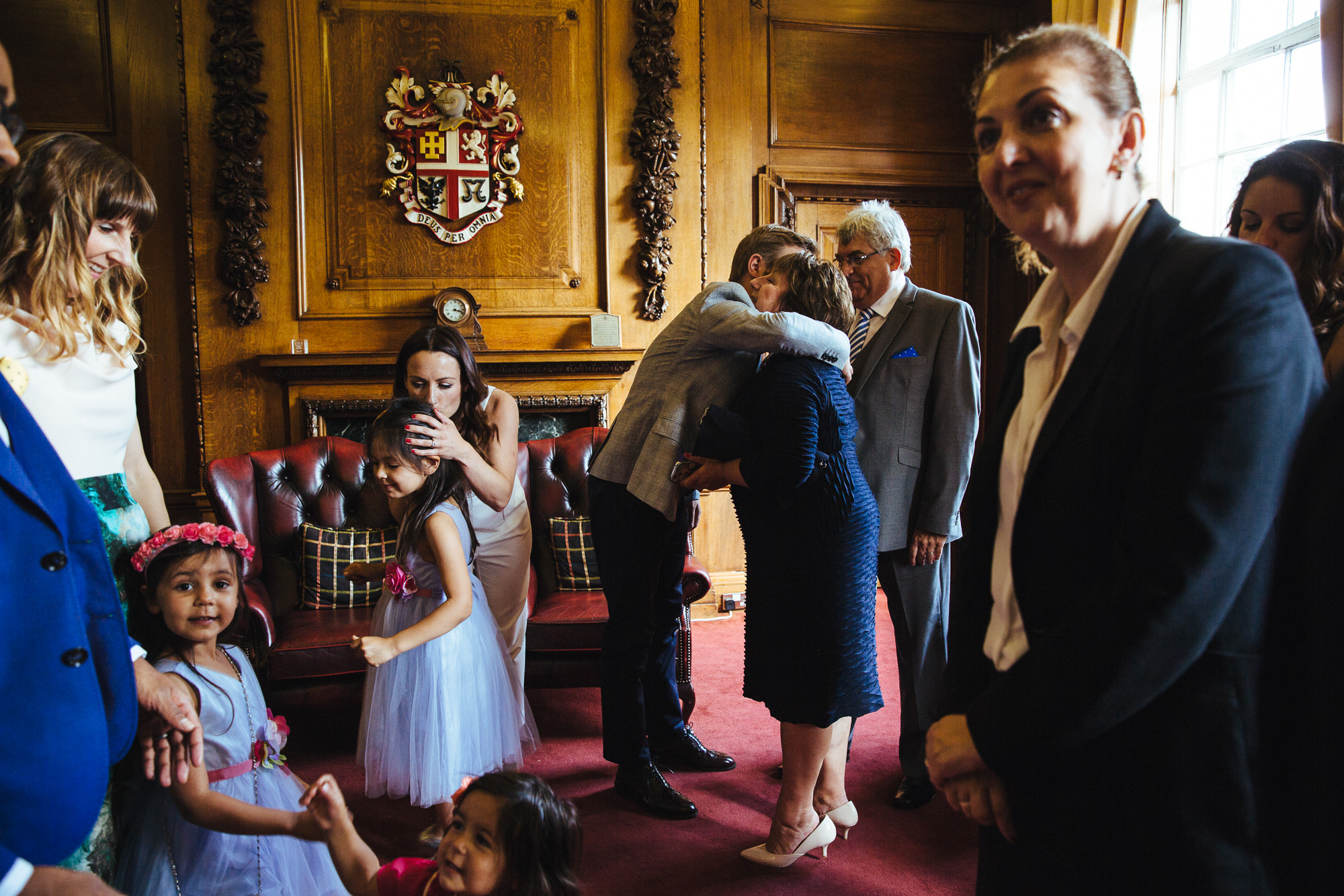 intimate wedding ceremony at Islington town hall