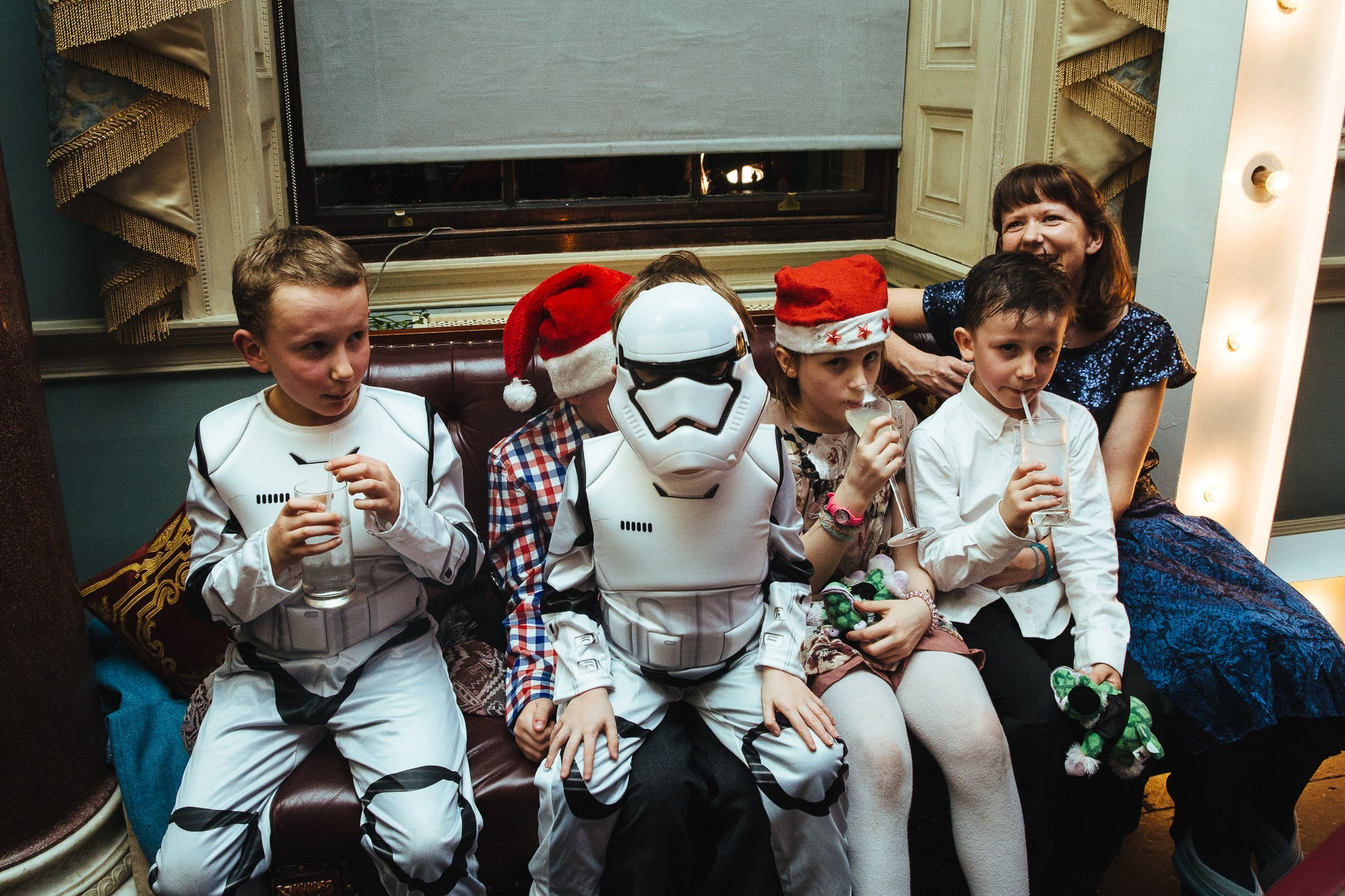 stormtroopers at a Christmas wedding