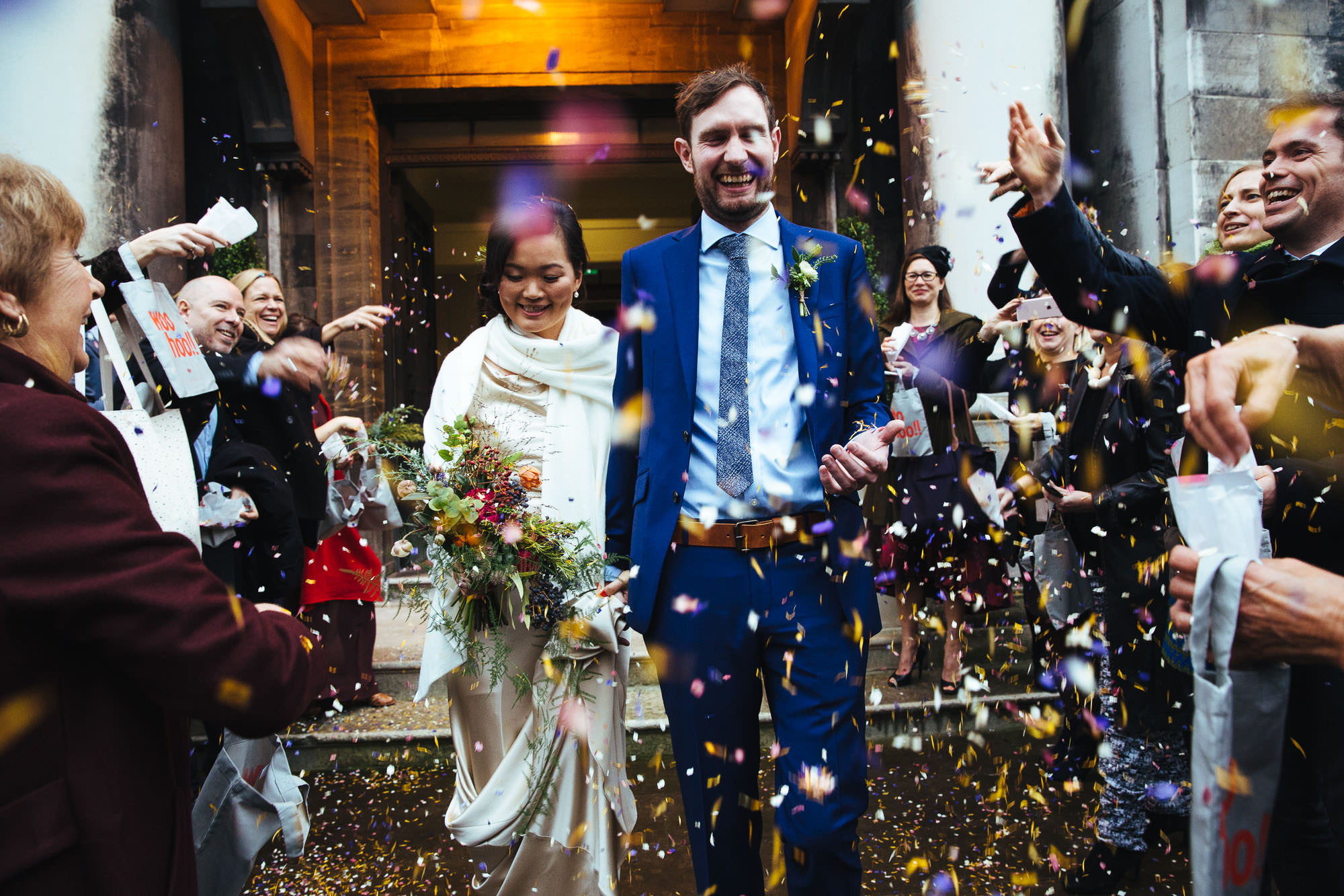 winter wedding stoke newington town hall