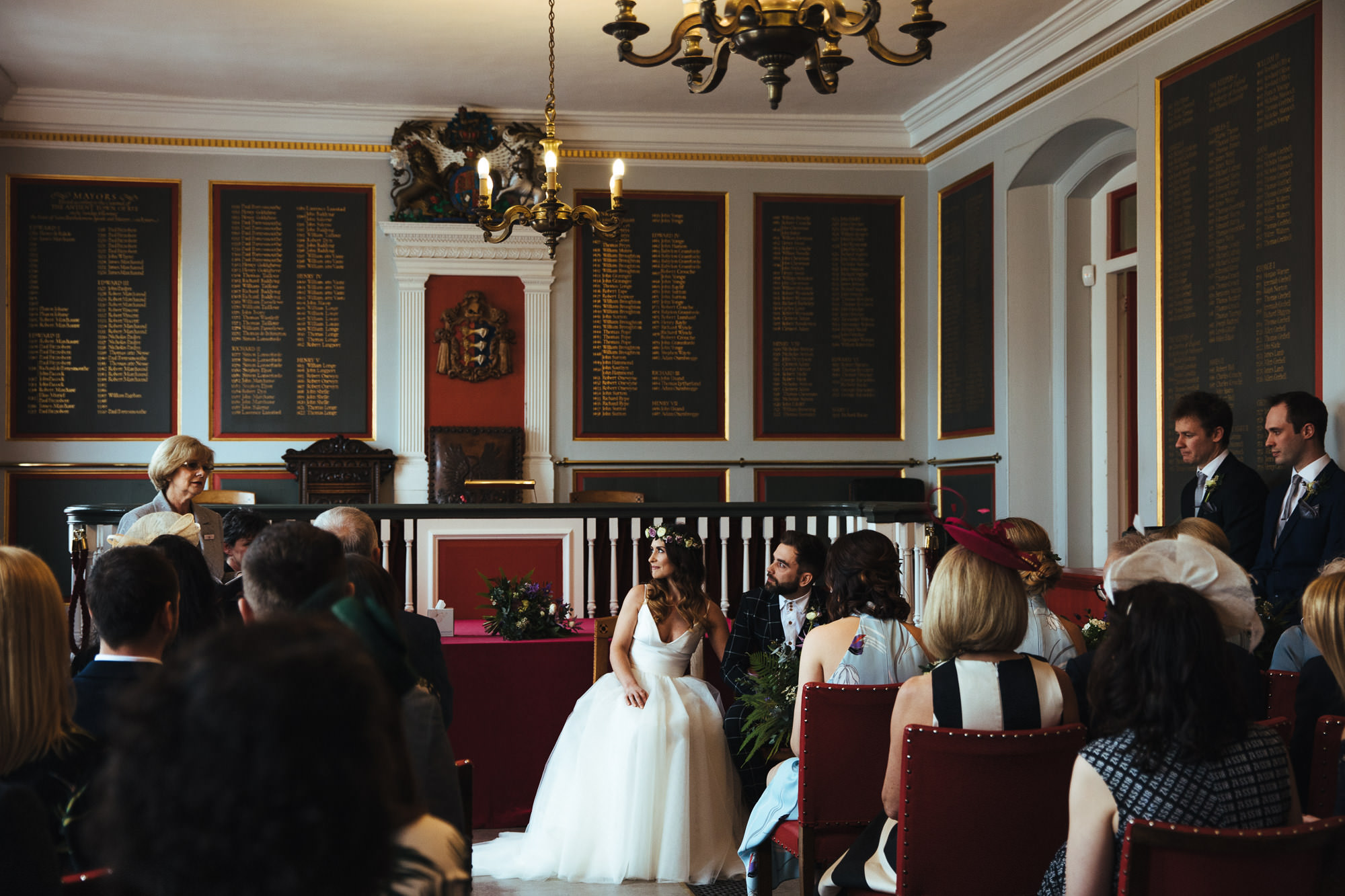 rye town hall and the george in rye wedding