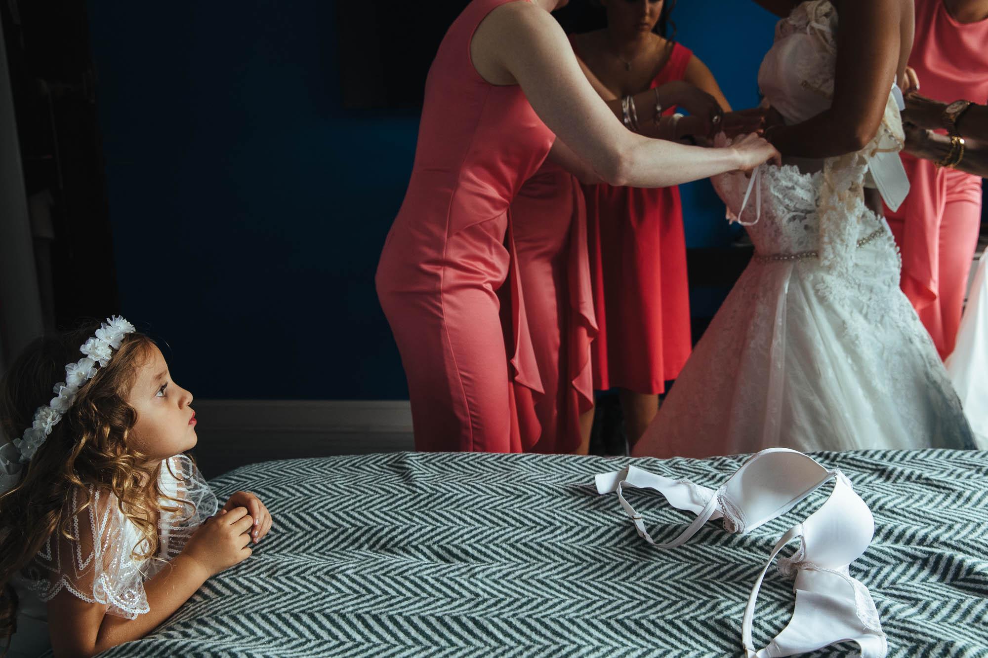 braless wedding dress