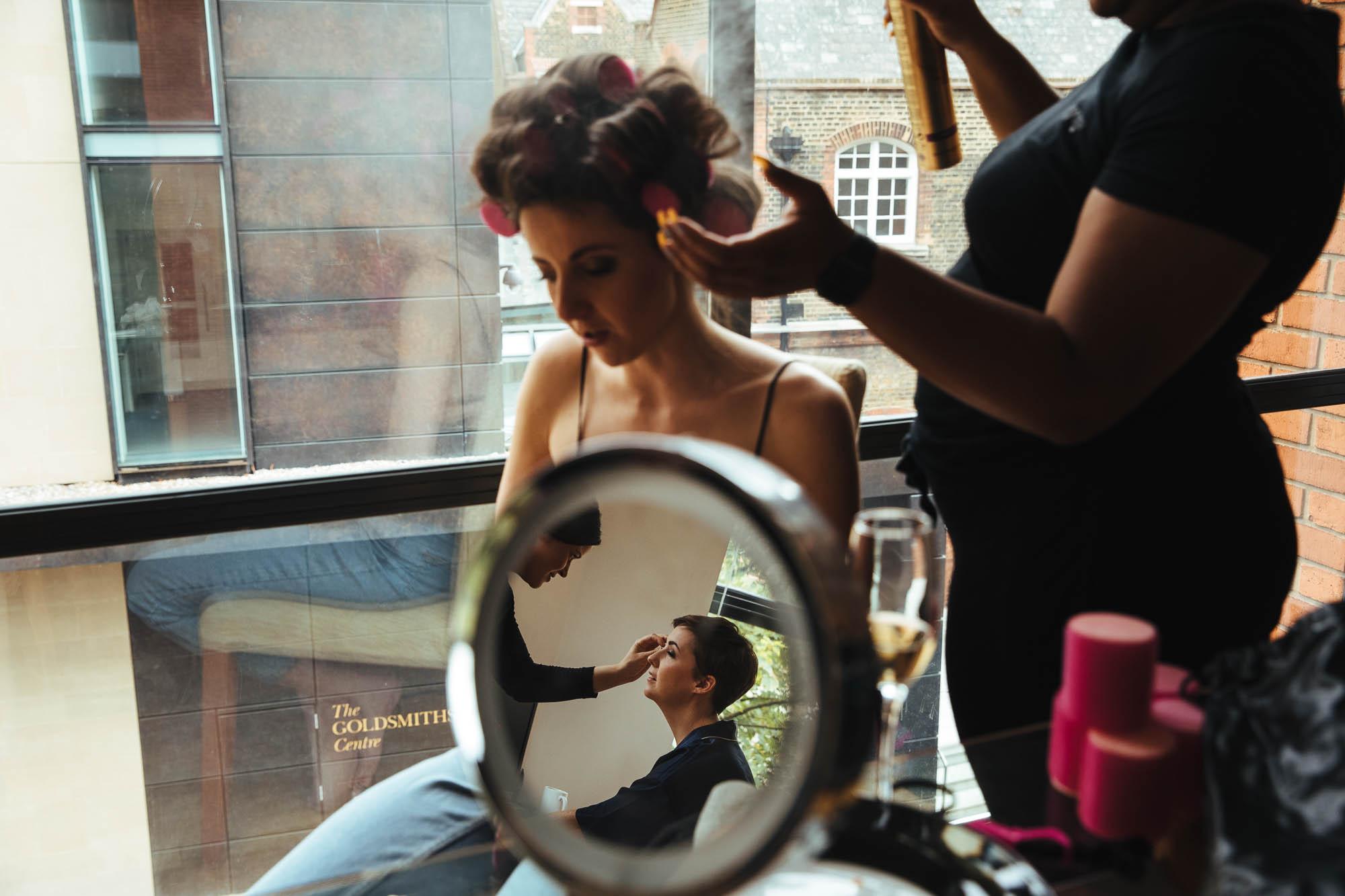 bridemaids hair and makeup