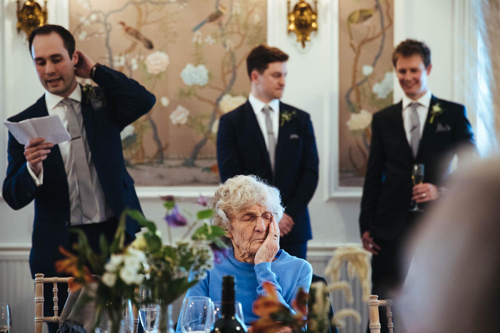 slepping granmda wedding speeches
