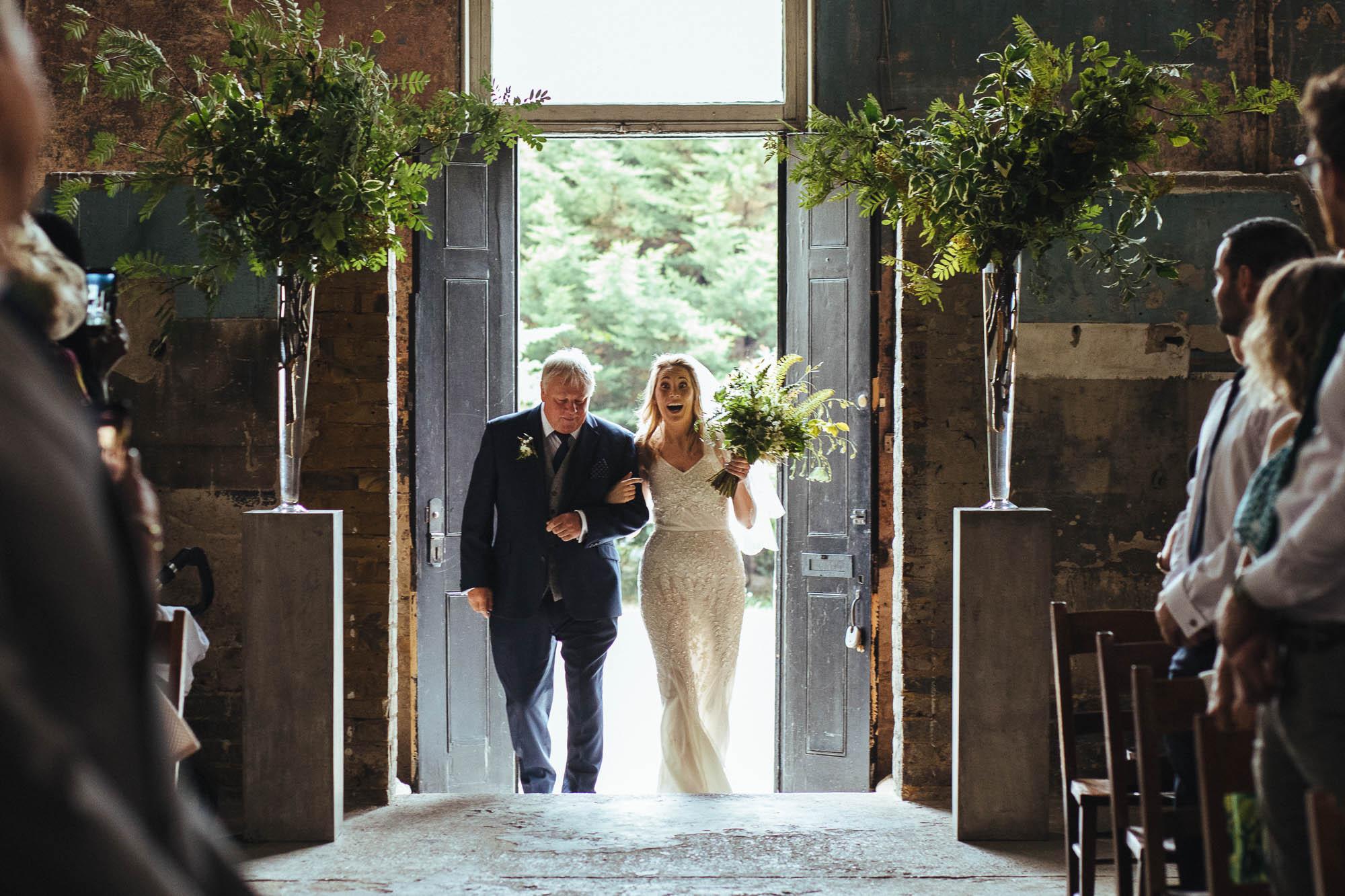 entance at The Asylum wedding