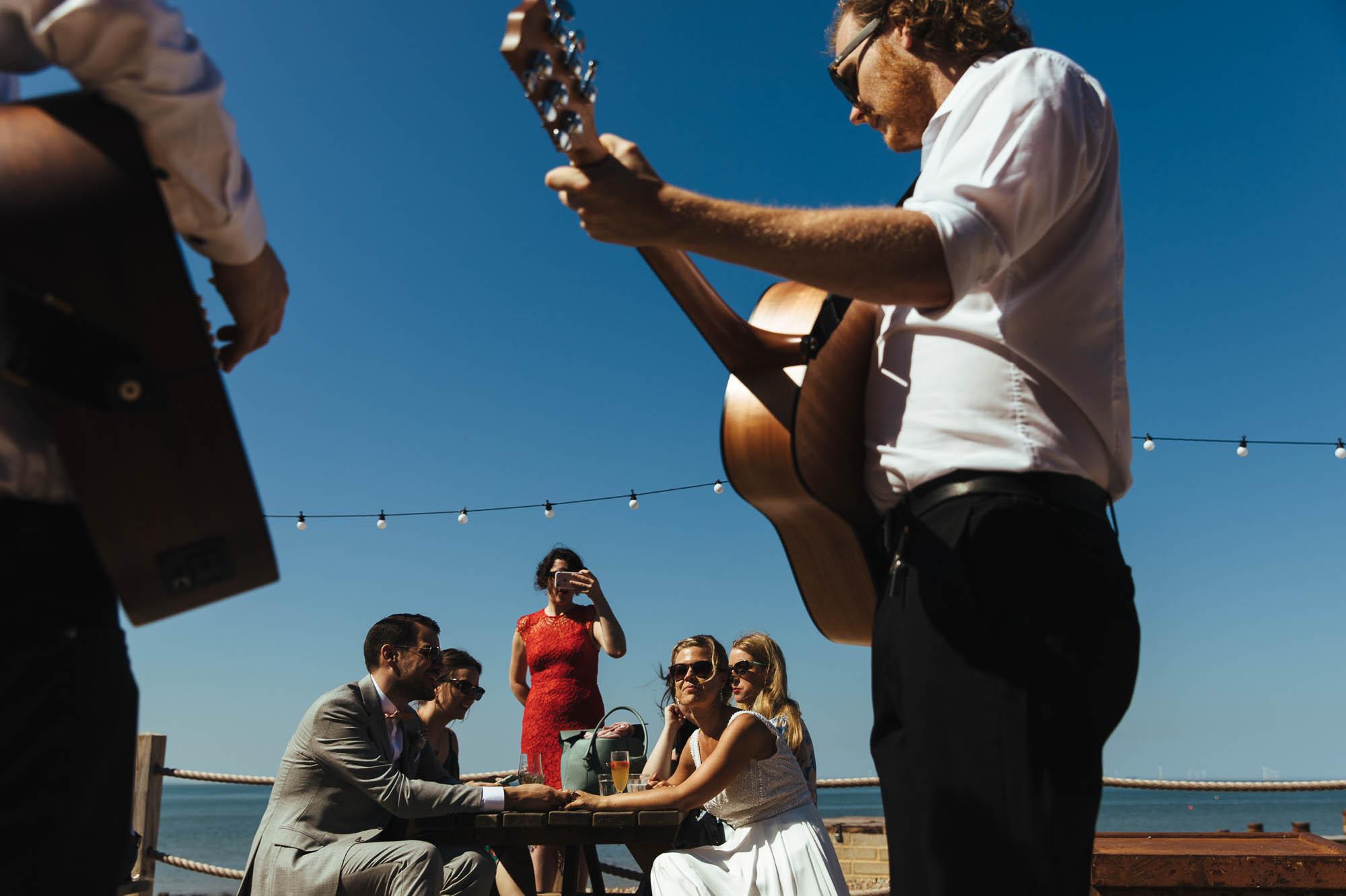 guitarist at wedding ceremony