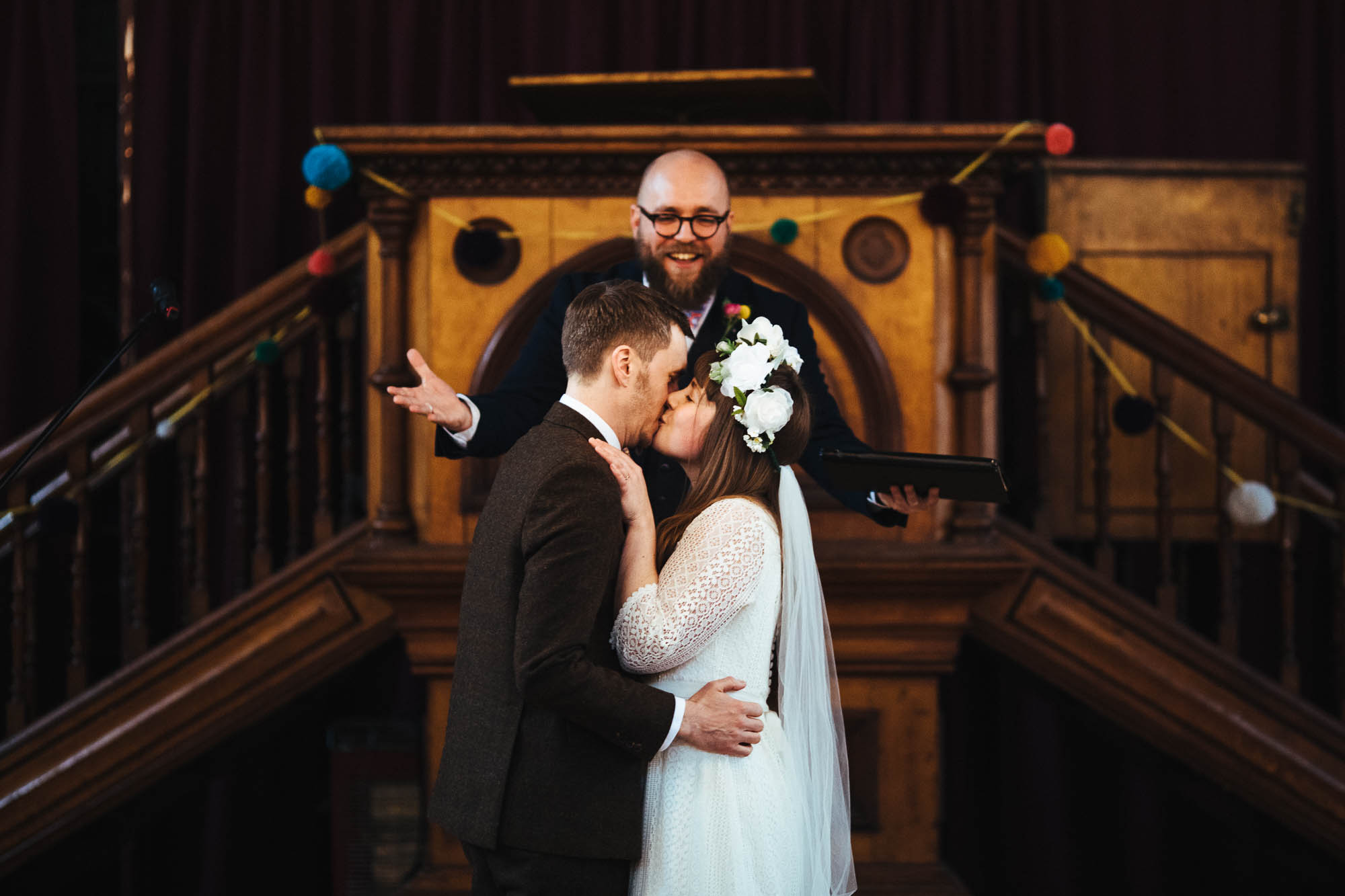 Hackney Round Chapel wedding ceremony