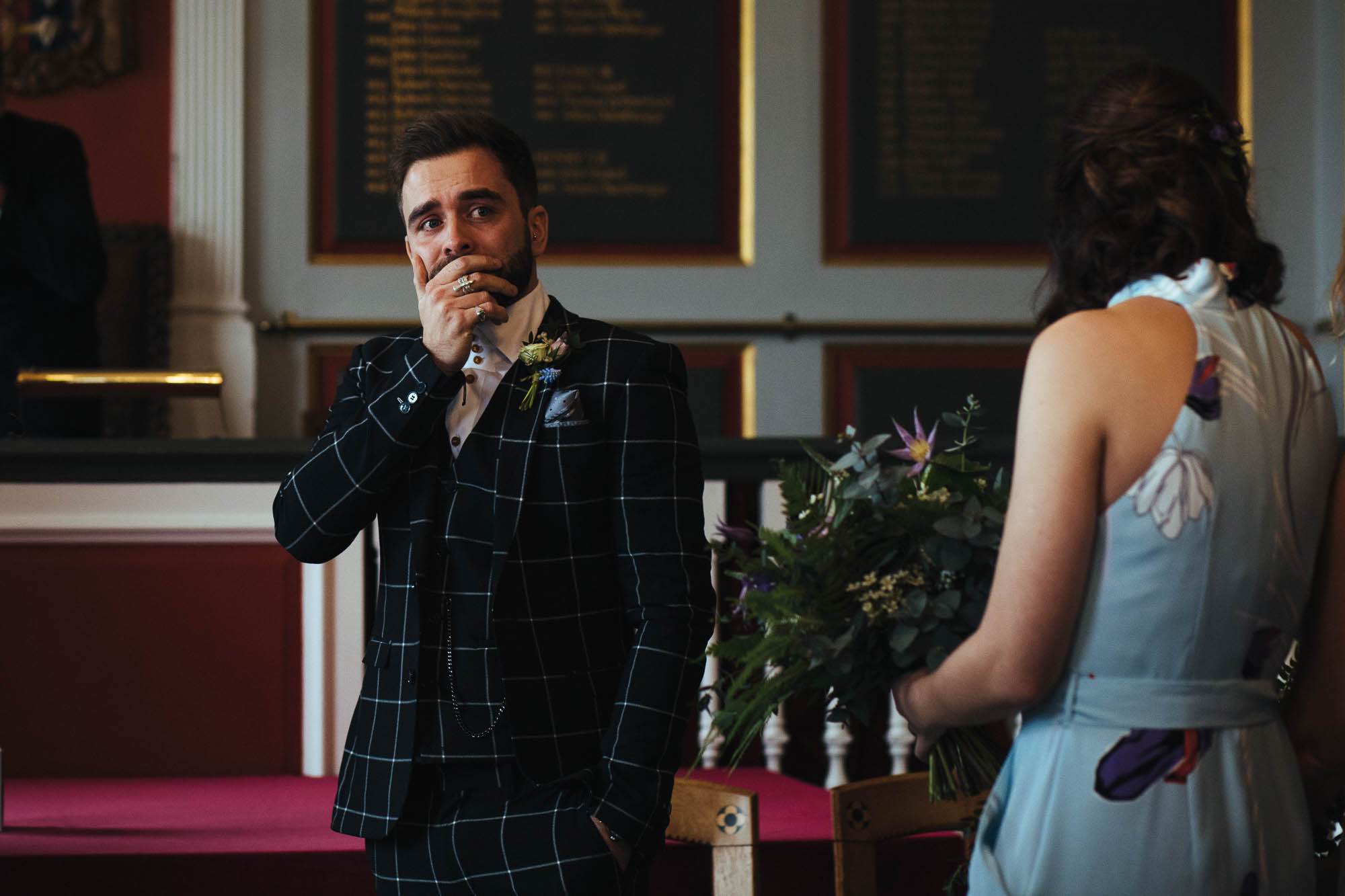 Groom at Rye Town Hall