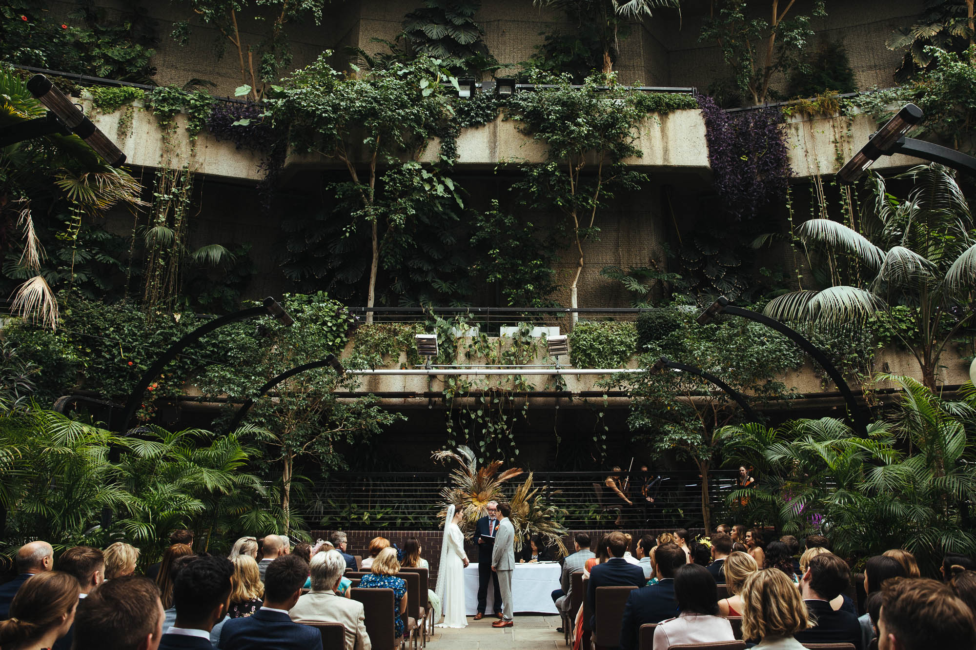Wedding at The Barbican Conservatory