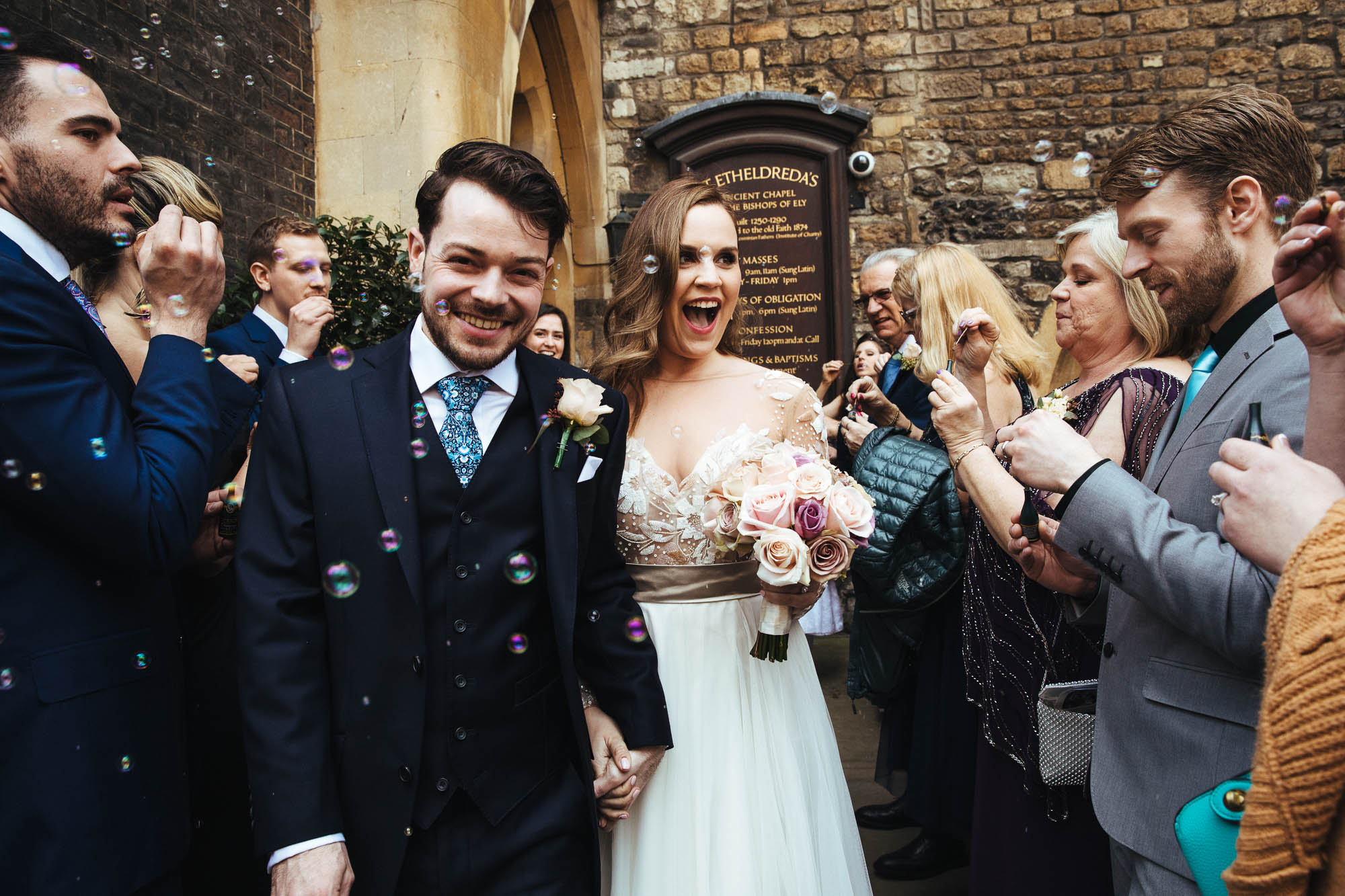 St Etheldreda's wedding confetti