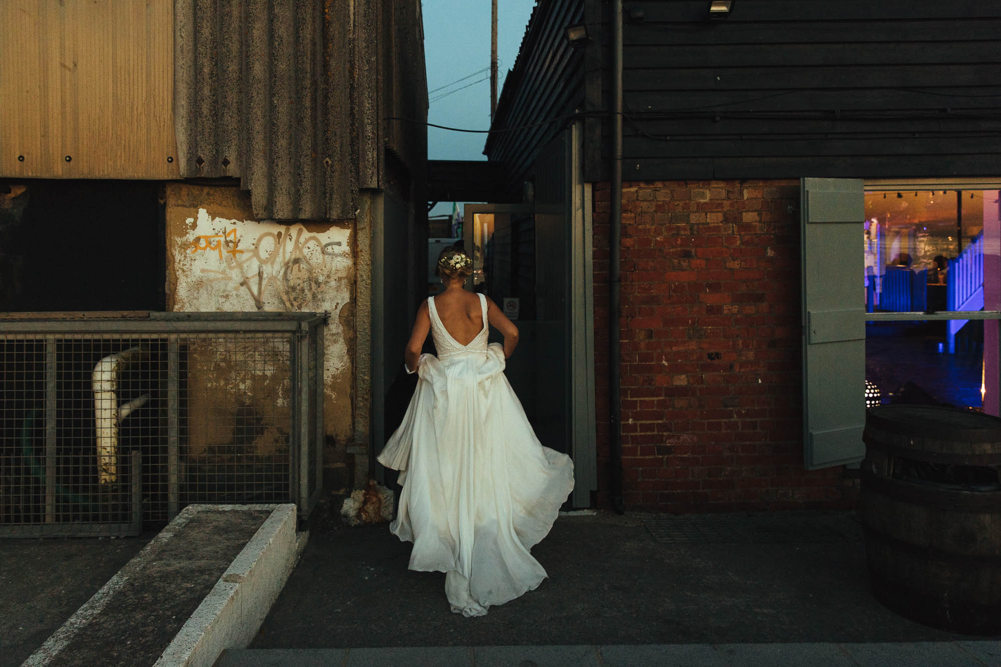 wedding dress East Quay