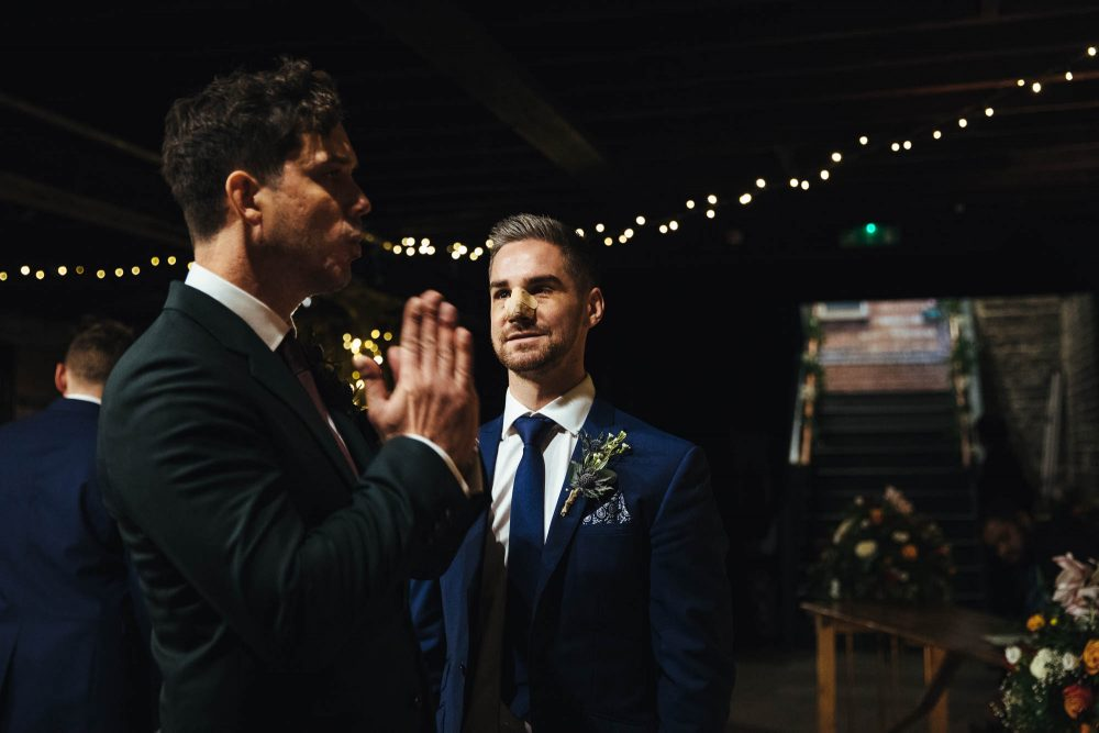 the electrician's shop wedding