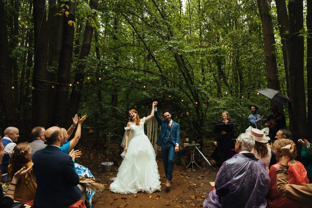outdoor woodland wedding at the dreys