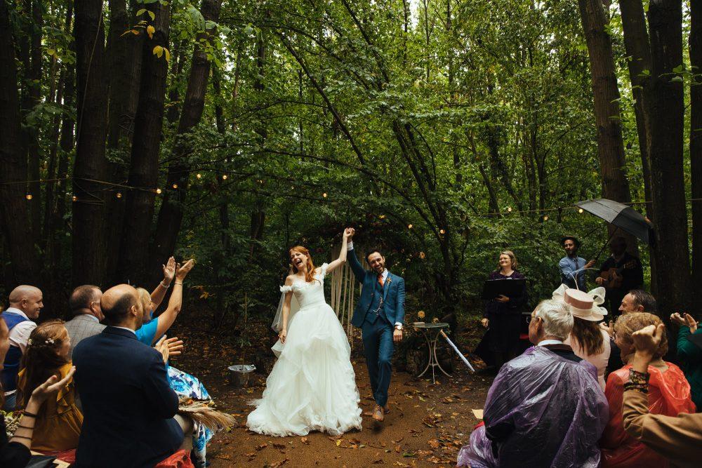 outdoor woodland wedding at The Dreys